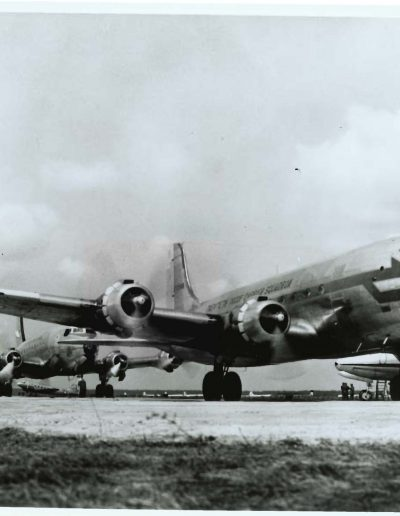 A-block-of-C-54s-lined-up-for-take-off-at-Rhein-Main